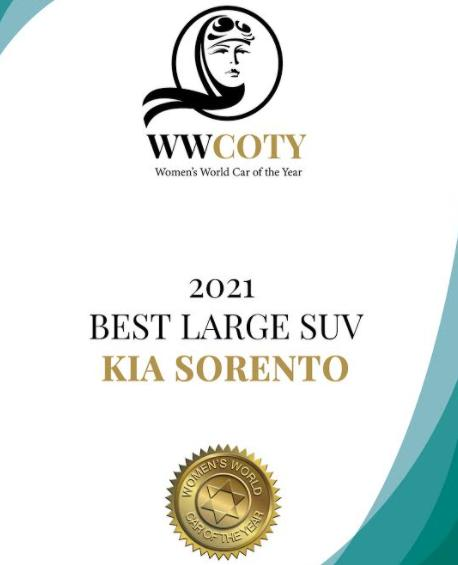 kia sorento Women's World Car of the Year, Women's World Car of the Year 2021, review Women's World Car of the Year, femei suv 2021