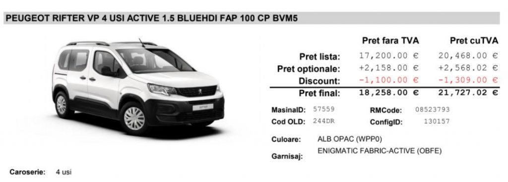 test drive Peugeot Rifter VP Active 1.5 BlueHDI 100 CP 2021, review Peugeot Rifter VP Active 1.5 BlueHDI 100 CP 2021, consum real Peugeot Rifter VP Active 1.5 BlueHDI 100 CP 2021, autolatest teste auto Peugeot Rifter VP Active 1.5 BlueHDI 100 CP, date tehnice, pret oferta Peugeot Rifter VP Active 1.5 BlueHDI 100 CP, motor 1.5 bluhdi distributie, pret revizie